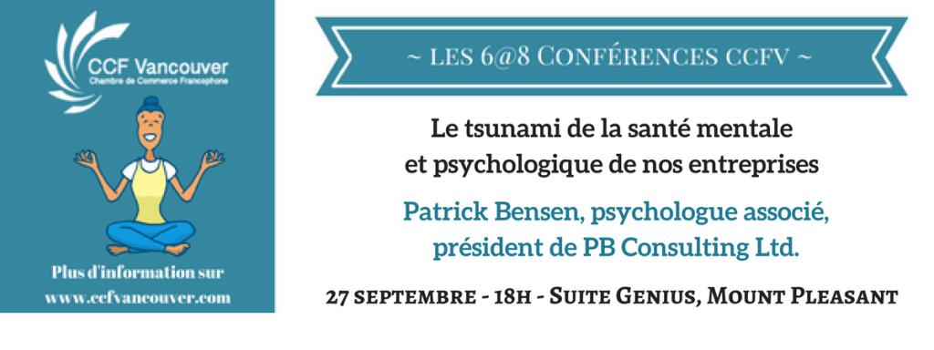 27 septembre - 18h - Suite Genius, Mount Pleasant